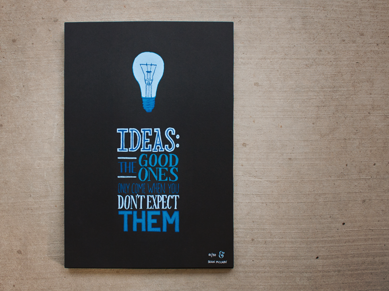 ideas poster hand lettering by seanwes - Poster Design Ideas