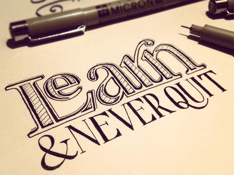 learn never quit hand lettering by seanwes