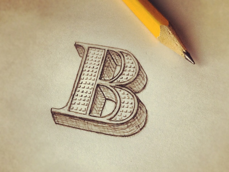 The Letter B | hand lettering by seanwes