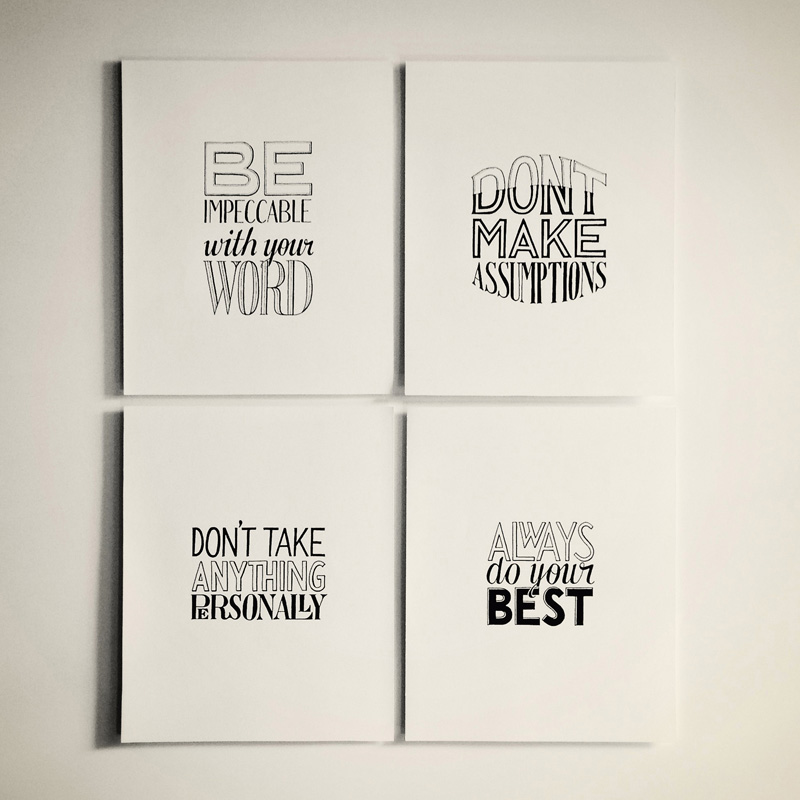 hand-lettering-four-agreements-arranged