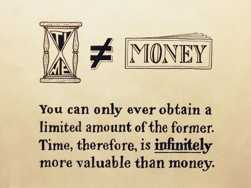 time-does-not-equal-money