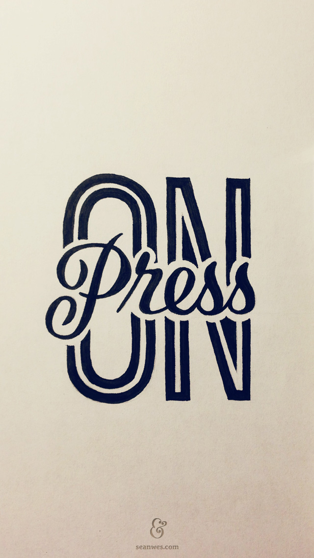 press on hand lettering by seanwes With press type lettering