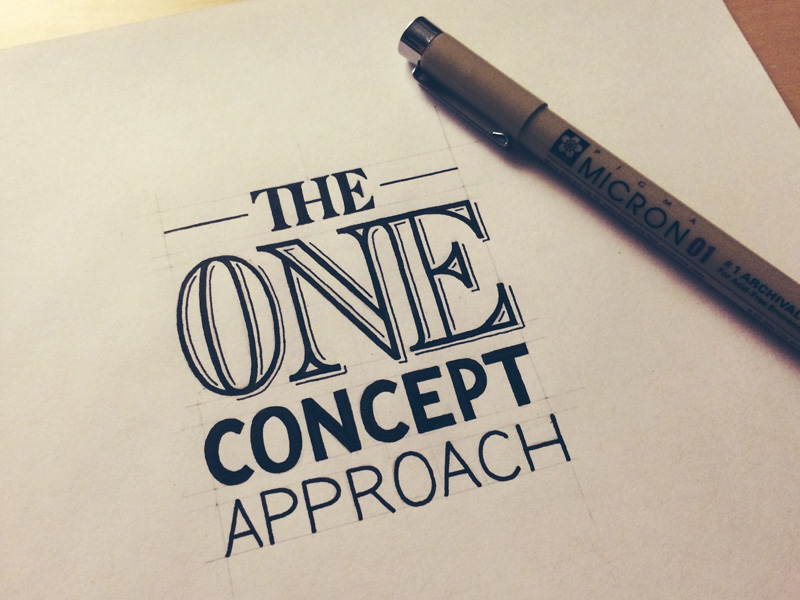 The One Concept Approach How A Professional Designs A Logo Seanwes