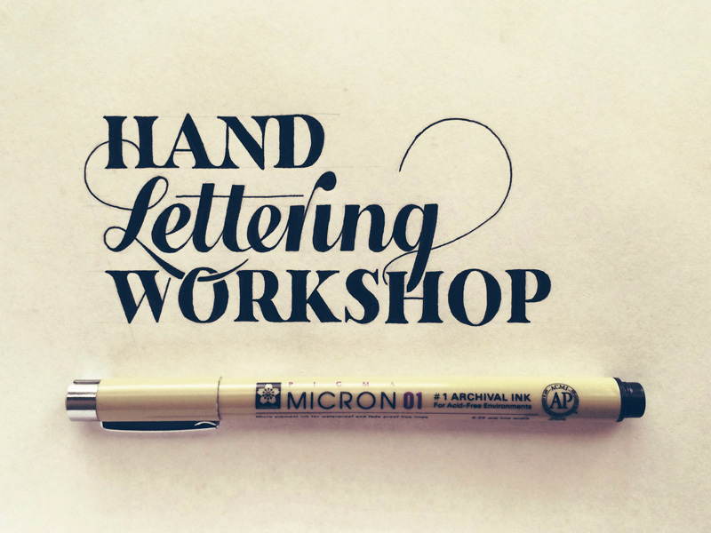 Hand Lettering Workshop | hand lettering by seanwes