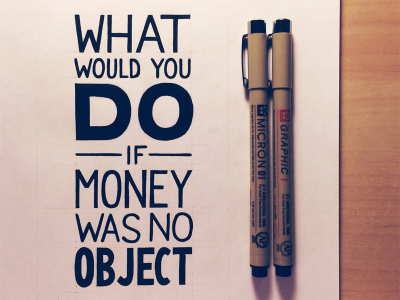 what would you do if money was no object seanwes