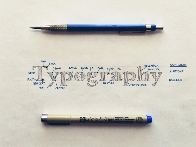 Typographic Terms for Hand Lettering Artists