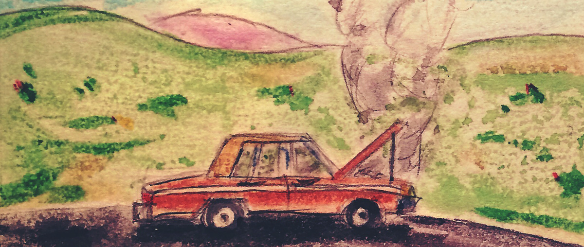 broken-down-car-watercolor