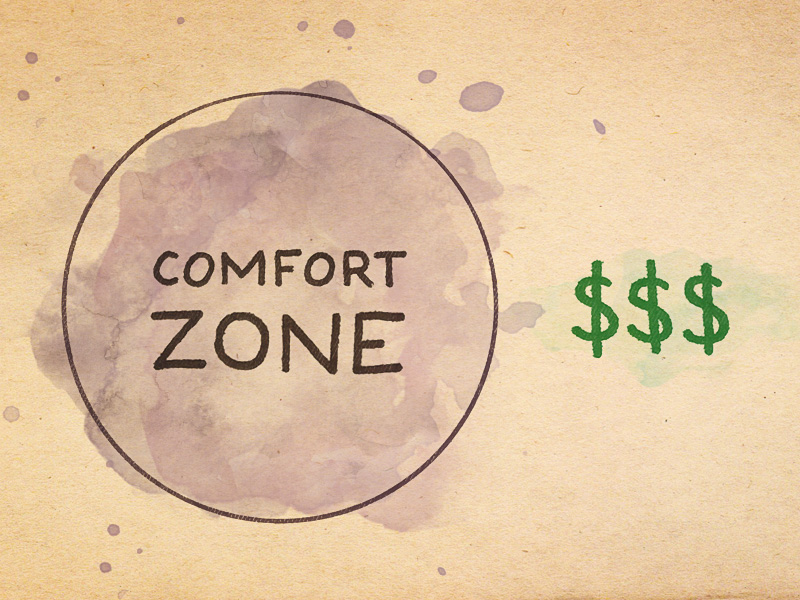 012 outside of your comfort zone is where you make money for Confort zone