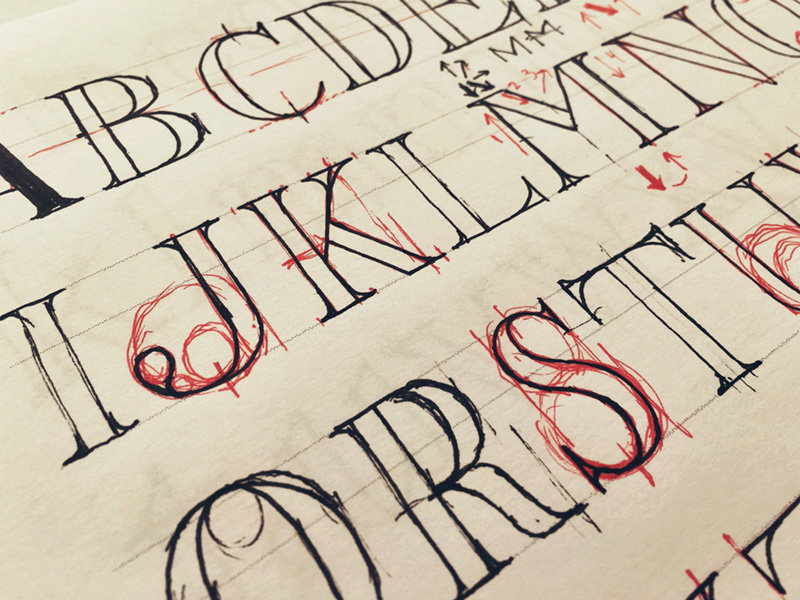 drawing-serif-letters