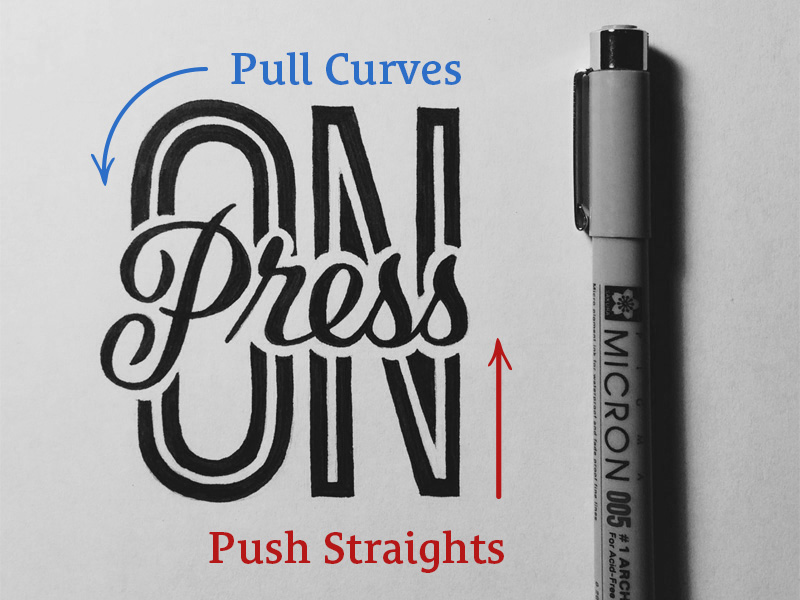 Drawing Smooth Curved Lines In Photo : Quick tip to draw straight lines avoid shaky hand lettering