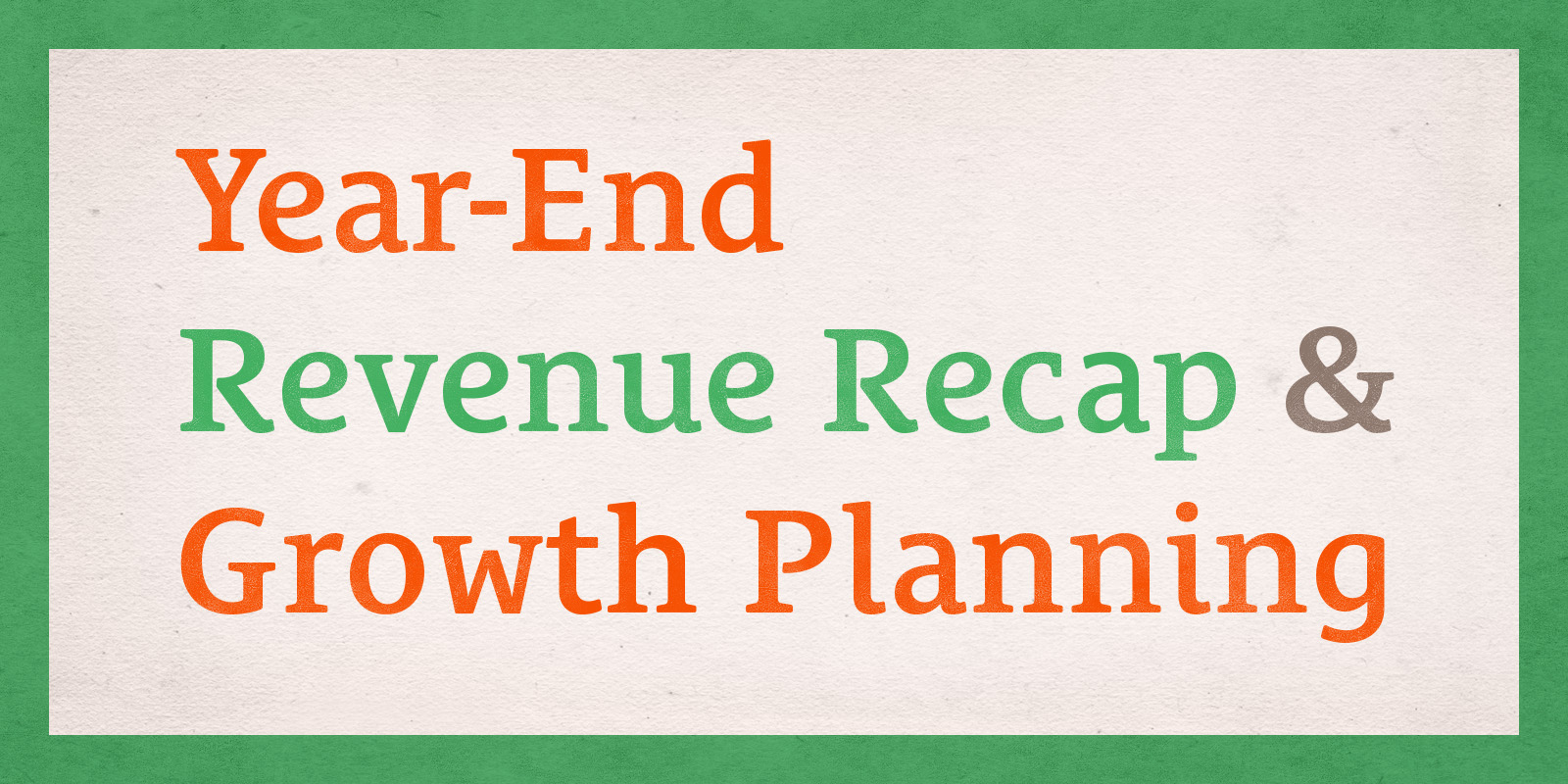 2015 Revenue Recap