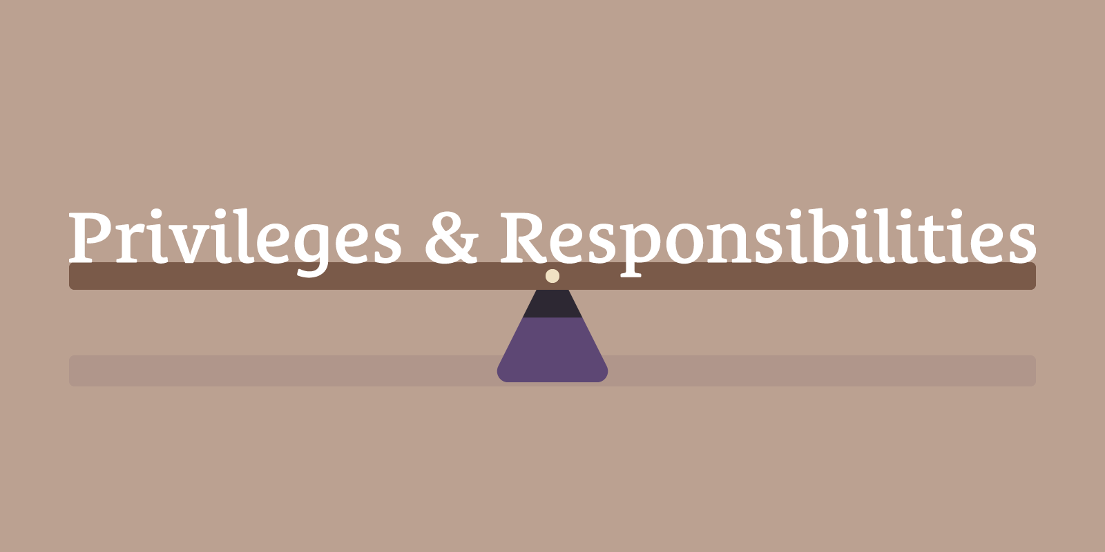 The Fine Balance Between Privileges and Responsibilities