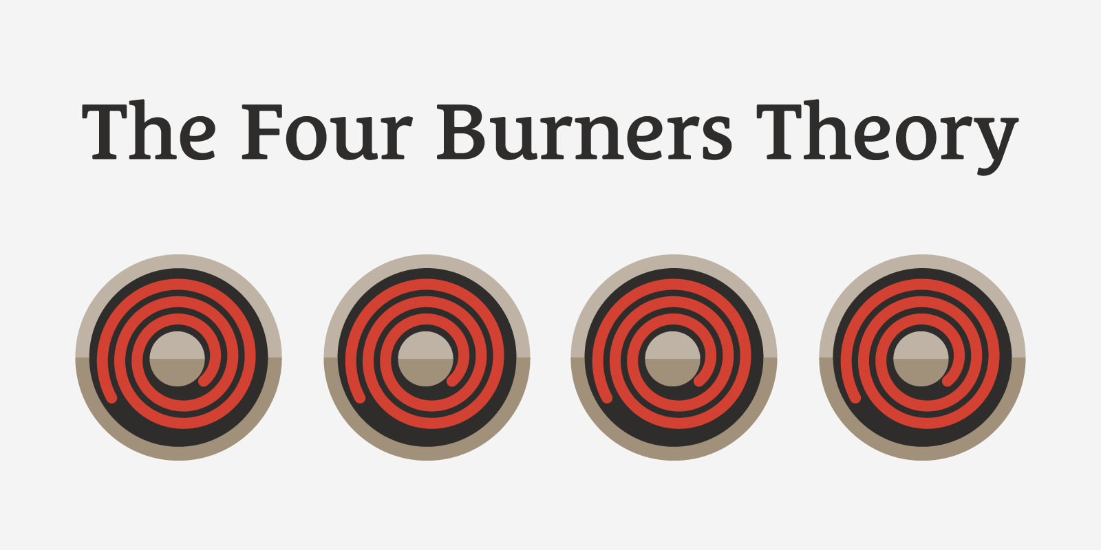 The Four Burners Theory: The Downside of Work-Life Balance