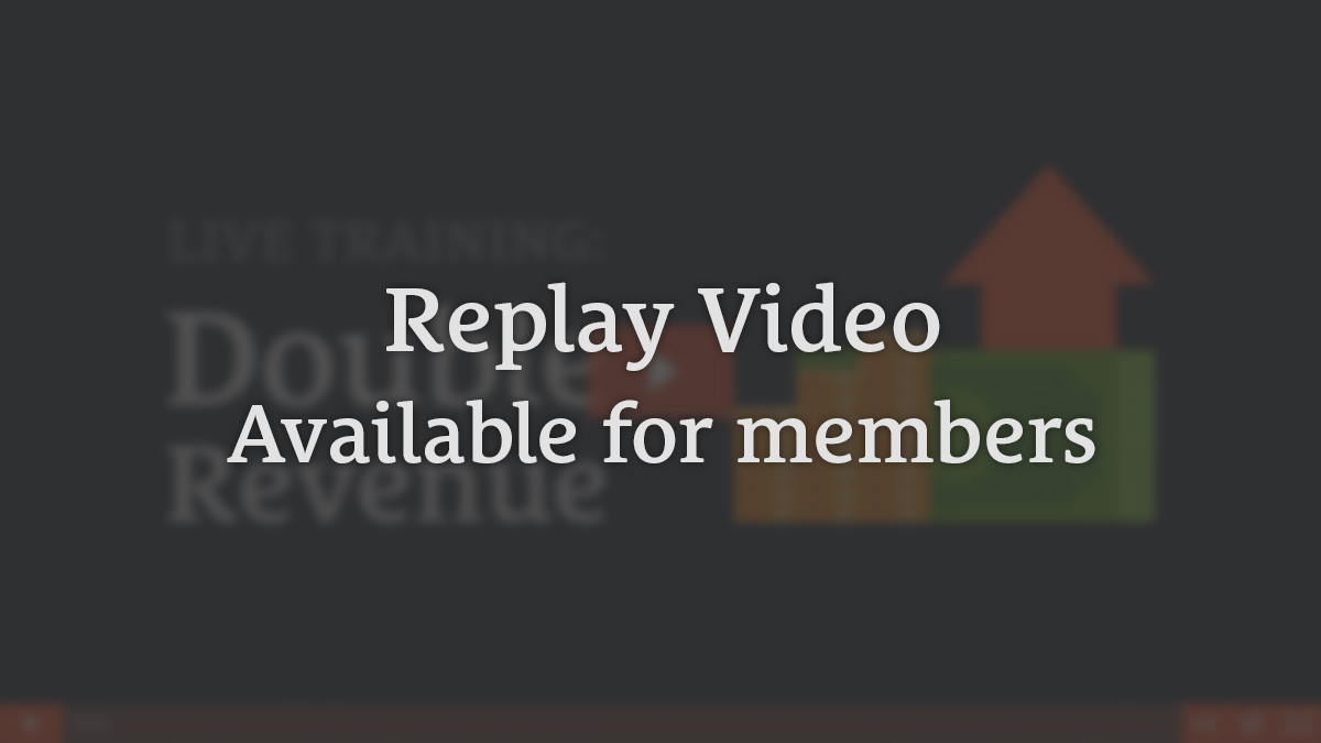 Replay Video Available for Members