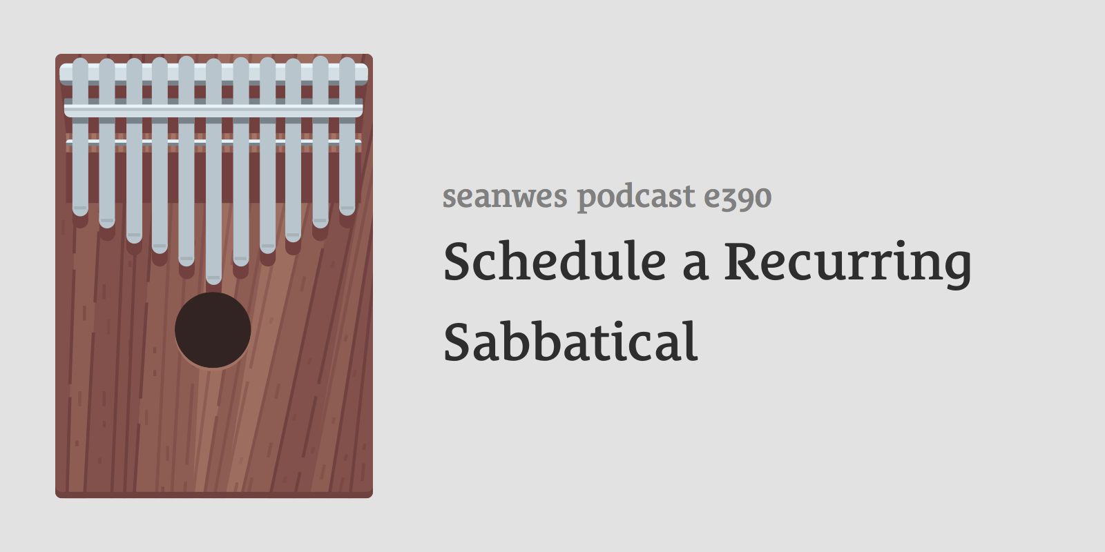 Schedule a Recurring Sabbatical