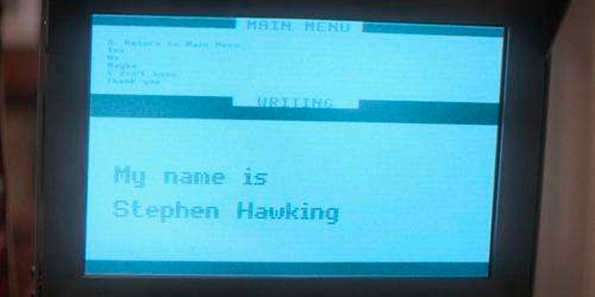 My Name Is Stephen Hawking