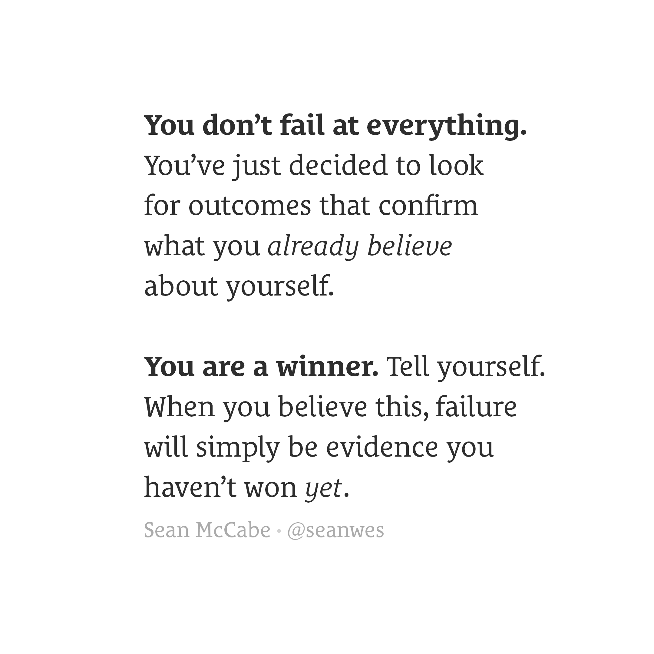 You are not a failure.