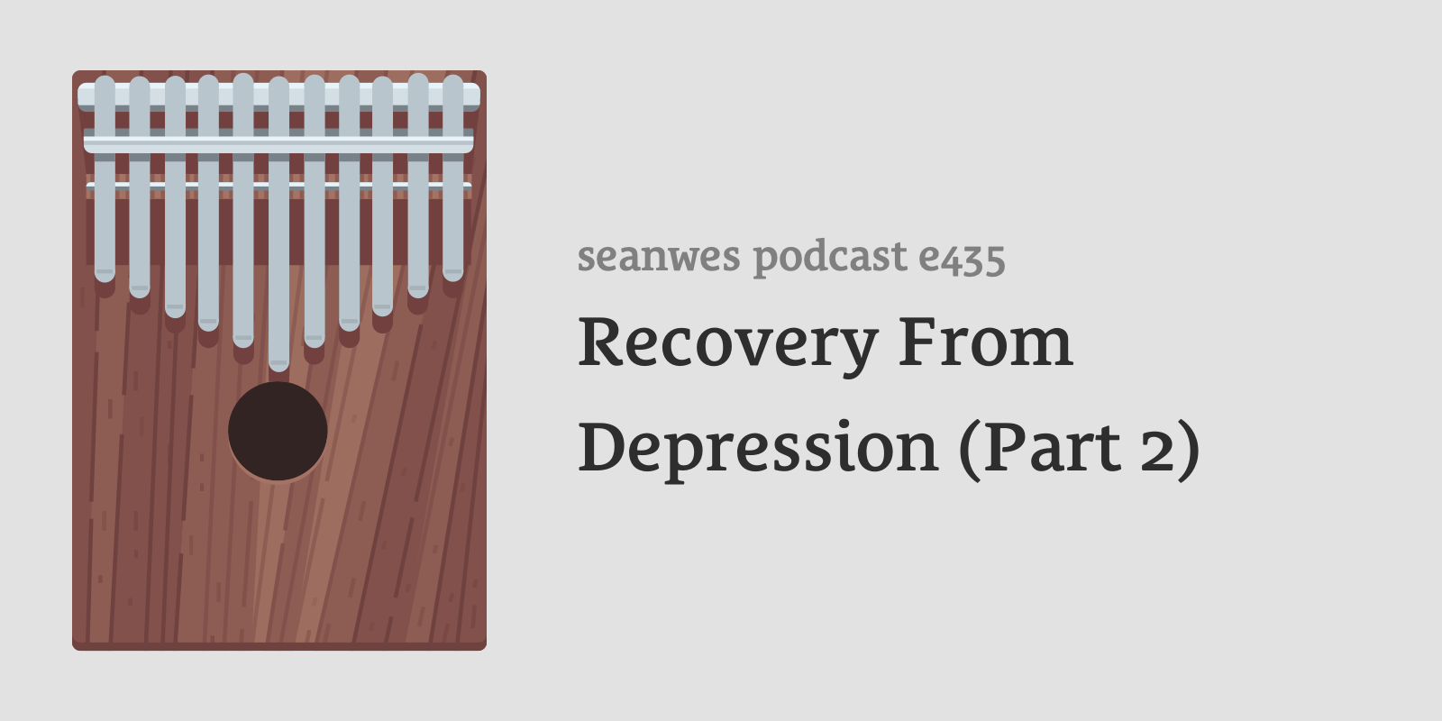 seanwes podcast 435: Recovery From Depression (Part 2)